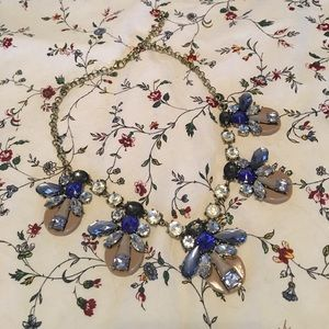 Jewelry - Necklace with Blue Black and Tan gems